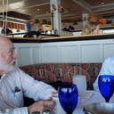 With Gene Carlson at Salty's on Alkai.